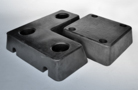 Trapezium form rubber buffers