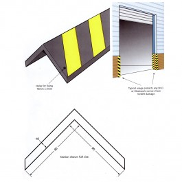 Reflective Corner Protector 800L x 98W x 98H Technical Drawing