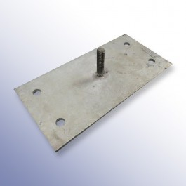 Rubber Extruded Kerb Fixing Plate 250L x 125W x 4H Technical Drawing