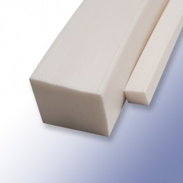 Silicone Solid Square Strips White 6mm 60ShA at Polymax