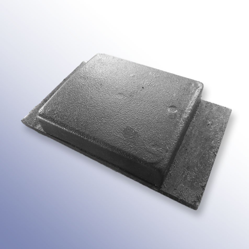 Steel Tipper Pad Coated 152L x 88W x 28H
