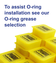 To assist o-ring installation try our silicone greases